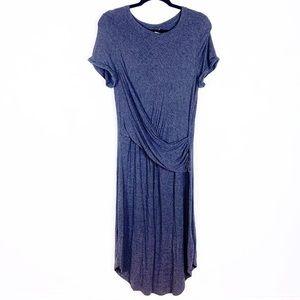 Anthro Akemi + Kin | gray faux wrap dress